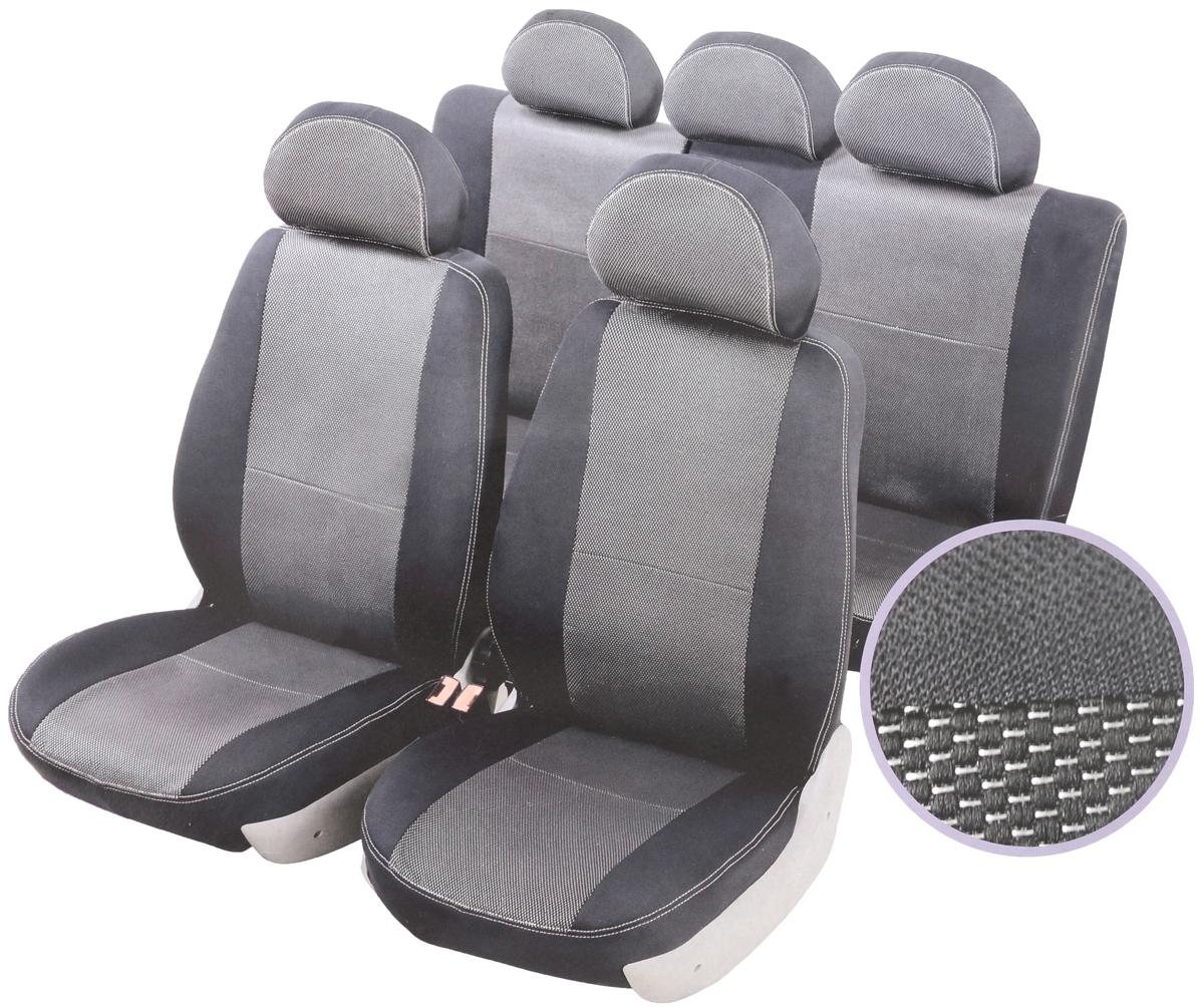 Чехлы автомобильные Senator Dakkar, для Hyundai Solaris 2010-, раздельный задний рядCA-3505Автомобильные чехлы Senator Dakkar изготовлены из качественного жаккарда, триплированного огнеупорным поролоном толщиной 5 мм, за счет чего чехол приобретает дополнительную мягкость. Подложка из спандбонда сохраняет свойства поролона и предотвращает его разрушение. Водительское сиденье имеет усиленные швы, все внутренние соединительные швы обработаны оверлоком. Чехлы идеально повторяют штатную форму сидений и выглядят как оригинальная обивка сидений. Разработаны индивидуально для каждой модели автомобиля. Дизайн чехлов Senator Dakkar приближен к оригинальной обивке салона. Жаккардовый материал расположен в центральной части сидений и спинок, а также на подголовниках. Декоративная контрастная прострочка по периметру авточехлов придает стильный и изысканный внешний вид интерьеру автомобиля. В спинках передних сидений расположены карманы, закрывающиеся на молнию. Чехлы сохраняют полную функциональность салона - трансформация сидений, возможность установки детских кресел ISOFIX, не препятствуют работе подушек безопасности AIRBAG и подогреву сидений. Для простоты установки используется липучка Velcro, учтены все технологические отверстия. Авточехлы Senator Dakkar просты в уходе - загрязнения легко удаляются влажной тканью. Чехлы имеют раздельную схему надевания.