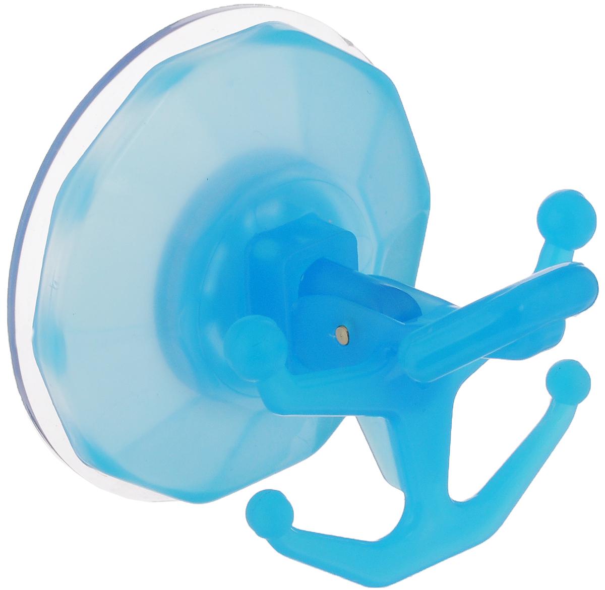 Вешалка настенная Gimi Bingo, на присоске, цвет: голубой, 5 крючковRG-D31SВешалка настенная Gimi Bingo, выполненная из пластика, станет отличным решением для прихожей, ванной или кухни. Вешалка имеет 5 крючков, на которые вы сможете повесить ваши вещи. Прочная присоска надежно крепится к стене и не оставляет разводов и пятен. Практичная настенная вешалка поможет организовать пространство в вашем доме.Особенности вешалки:- успешно работает в интервале температур от -20°С до +60°С; - выдерживает нагрузку до 20 кг; - может служить годами, не требуя перевешивания; - без усилий снимается и перевешивается на новое место.