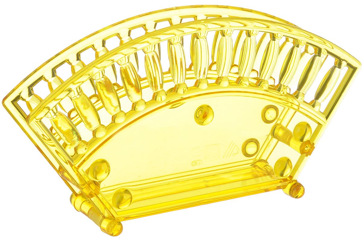 Салфетница Альтернатива, цвет: желтый, 17,5 х 4,7 х 9,5 см115510Салфетница Альтернатива изготовлена из высококачественного пластика и оформлена оригинальной перфорацией. Изделие сочетает в себе изысканный дизайн с максимальной функциональностью. Такая салфетница станет практичным украшением вашего кухонного стола.