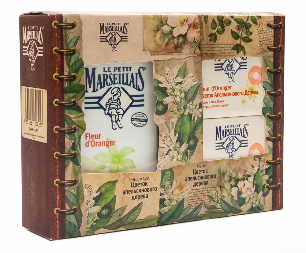 Le Petit Marseillais Подарочный набор: Гель для душа Цветок апельсинового дерева, 250 мл + Экстрамягкое мыло Цветок апельсинового дерева, 90 г, 2 шт (второе мыло в ПОДАРОК)FS-00897Гель и жидкое мыло для рук Le Petit Marseillais Цветок апельсинового дерева увлажняет и питает. Мыло обладает тонким цветочным ароматом, мягко очищает и увлажняет кожу. Образует густую пену, легко смывается.