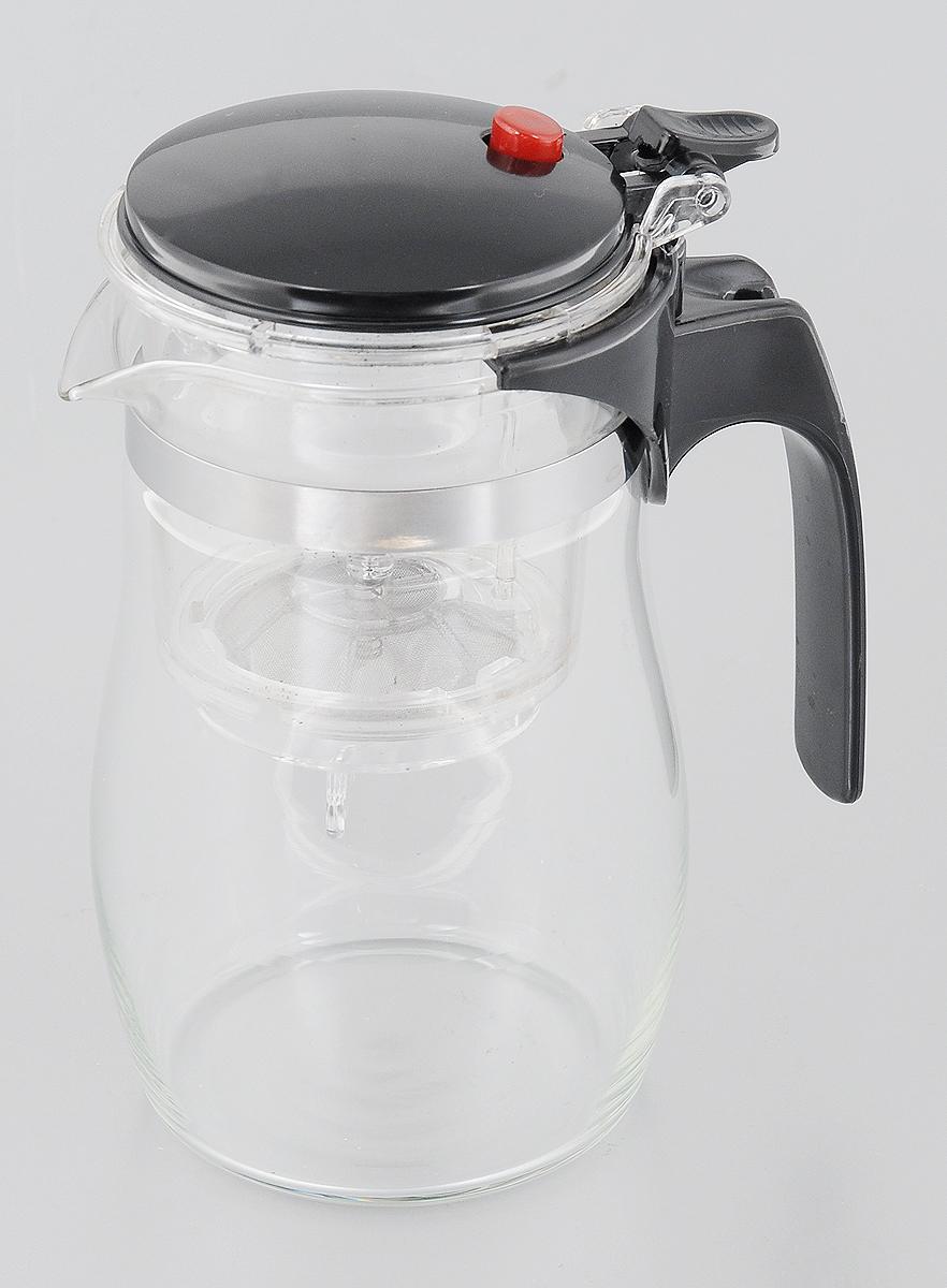 Чайник заварочный Mayer & Boch, с фильтром и клапаном, 750 мл54 009312Чайник заварочный Mayer & Boch изготовлен из высококачественного термостойкого стекла и пластика. Заварочный чайник удобен в использовании, любой человек, даже не имеющий большого опыта в заваривании чая, сможет заварить в нем чай до правильной консистенции без риска перезаварить чай. При нажатии на кнопку заваренный настой из фильтра переливается в нижнюю часть чайника, процесс заварки останавливается, а чаинки остаются в фильтре.Диаметр чайника (по верхнему краю): 7 см.Высота чайника (с учетом крышки): 17 см.