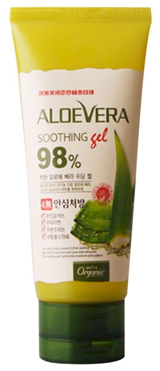 Whitecospharm Успокаивающий гель с натуральным соком алоэ вера White Organia, 100 гМ020/G153Гель моментально оказывает успокаивающее и охлаждающее действия на кожу, насыщает и питает ценными сикроэлементами.- Алоэ вера содержит витамины A, B, C, E, а также аминокислоты, энзимы и минералы. Глубоко увлажняет кожу, успокаивает, заживляет и оказывает мощное антиоксидантное воздействие- Гель идеально подойдет в качестве средства после загара, средства после бритья или в качестве охлаждающей экспресс-маски для лица, в том числе – кожи векСпособ применения: нанести небольшое количество геля на кожу, распределить легкими массажными движениями и дать впитаться. Гель рекомендуется хранить в холодильнике.Меры предосторожности: при появлении раздражения на коже прекратите использование и обратитесь к врачу. При попадании средства в глаза промойте их проточной водой. Храните в недоступном для детей месте.Состав: вода, спирт, дипропиленгликоль, глицерин, сок листьев алоэ вера (95%), лактобациллы / фильтрат алоэ вера, экстракт коры шелковицы белой, экстракт коры карагана, экстракт семян сои, экстракт ромашки, экстракт розмарина, экстракт лаванды, экстракт листьев монарды двойчатой, экстракт листьев базилика, экстракт шалфея, экстракт душицы обыкновенной, экстракт мяты, экстракт мелиссы, экстракт семян грейпфрута, экстракт полыни йомога, аллантоин, бетаин, карбомер, полисорбат 20,BIS ПЭГ-18 метил эфир диметил силан, глицерил полиакрилат, бутиленгликоль, полиглутаминовая кислота, октанедиол, этилгексилглицерин, триэтаноламин, динатрий ЭДТК, феноэкситанол, хлорфенезин, отдушка.