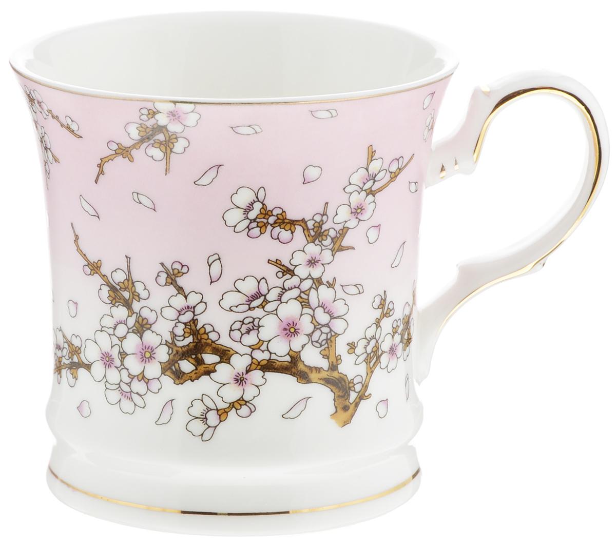 Кружка Elan Gallery Сакура на розовом, 170 млVT-1520(SR)Кружка Elan Gallery Сакура на розовом изготовлена из керамики и украшена стильным цветочным рисунком. Изгиб ручки и основание подчеркнуты золотистой каймой. Кружка станет оригинальным подарком!Диаметр кружки (по верхнему краю): 7,5 см.Высота: 7,5 см. Объем: 170 мл.