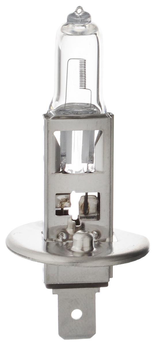 Лампа автомобильная галогенная Philips Vision, для фар, цоколь H1 (P14,5s), 12V, 55W. 12258PRC110503Автомобильная галогенная лампа Philips Vision произведена из запатентованного кварцевого стекла с УФ фильтром Philips Quartz Glass. Кварцевое стекло Philips в отличие от обычного твердого стекла выдерживает гораздо большее давление смеси газов внутри колбы, что препятствует быстрому испарению вольфрама с нити накаливания. Кварцевое стекло выдерживает большой перепад температур, при попадании влаги на работающую лампу изделие не взрывается и продолжает работать. Лампы Philips Vision дают на 30% больше света по сравнению со стандартными лампами. Они создают превосходный световой поток, отличаются приемлемой ценой и соответствуют стандартам качества для оригинального оборудования. Благодаря улучшенному распределению света лампы Philips Vision способны освещать дорогу на большем расстоянии, повышая безопасность и комфорт вождения. Автомобильные галогенные лампы Philips удовлетворят все нужды автомобилистов: дальний свет, ближний свет, передние противотуманные фары, передние и боковые указатели поворота, задние указатели поворота, стоп-сигналы, фонари заднего хода, задние противотуманные фонари, освещение номерного знака, задние габаритные/стояночные фонари, освещение салона.