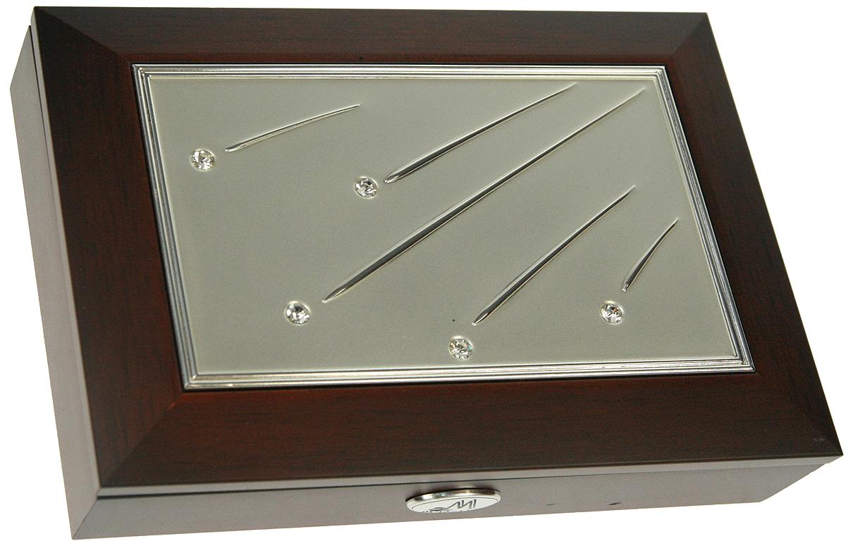 Шкатулка для ювелирных украшений Moretto, 18 х 13 х 5 см. 139524P6095Шкатулка Moretto станет идеальным обрамлением для вашей коллекции украшений, заставляя заиграть ее новыми красками. Шкатулка выполнена в классическом стиле. Крышка оформлена фоторамкой. Одноярусная схема исполнения и зеркало, скрывающееся под крышкой, позволит вам провести немало приятных минут, примеряя свои драгоценности.Размеры шкатулки: 18 х 13 х 5 см.