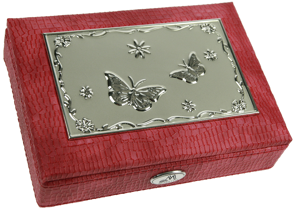 Шкатулка для ювелирных украшений Moretto, 18 х 13 х 5 см. 139531612139Шкатулка Moretto станет идеальным обрамлением для вашей коллекции украшений, заставляя заиграть ее новыми красками. Шкатулка выполнена в классическом стиле. Одноярусная схема исполнения и зеркало, скрывающееся под крышкой, позволит вам провести немало приятных минут, примеряя свои драгоценности.Размеры шкатулки: 18 х 13 х 5 см.