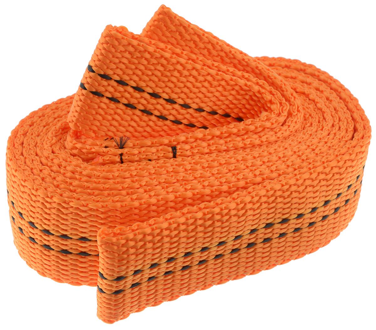 Трос буксировочный Azard, ленточный, без крюка, цвет: оранжевый, черный, 8 т, 4,5 мPANTERA SPX-2RSБуксировочный трос Azard представляет собой ленту из сверхпрочнойполиамидной (капроновой) нити. Специальное плетение ленты обеспечиваетэластичность троса и плавный старт автомобиля при буксировке. Напротяжении всего срока службы не меняет свои линейные размеры.Трос морозостойкий, влагостойкий и устойчив к агрессивным средамивоздействию нефтепродуктов. Длина троса соответствует ПДД РФ.Буксировочный трос обязательно должен быть в каждом автомобиле. Оннеобходим на случай аварийной ситуации или если ваш автомобильзастрял на бездорожье.Максимальная нагрузка: 8 т.Длина троса: 4,5 м.