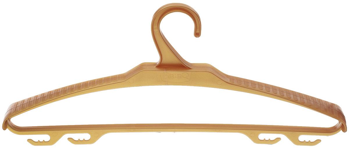 Вешалка для верхней одежды BranQ, цвет: бежевый, размер 48-50BQ1882Вешалка BranQ выполнена из полипропилена. Изделие имеет 4крючка. Вешалка - это незаменимая вещь для того, чтобы ваша одежда всегда оставалась в хорошем состоянии. Размер одежды: 48-50.