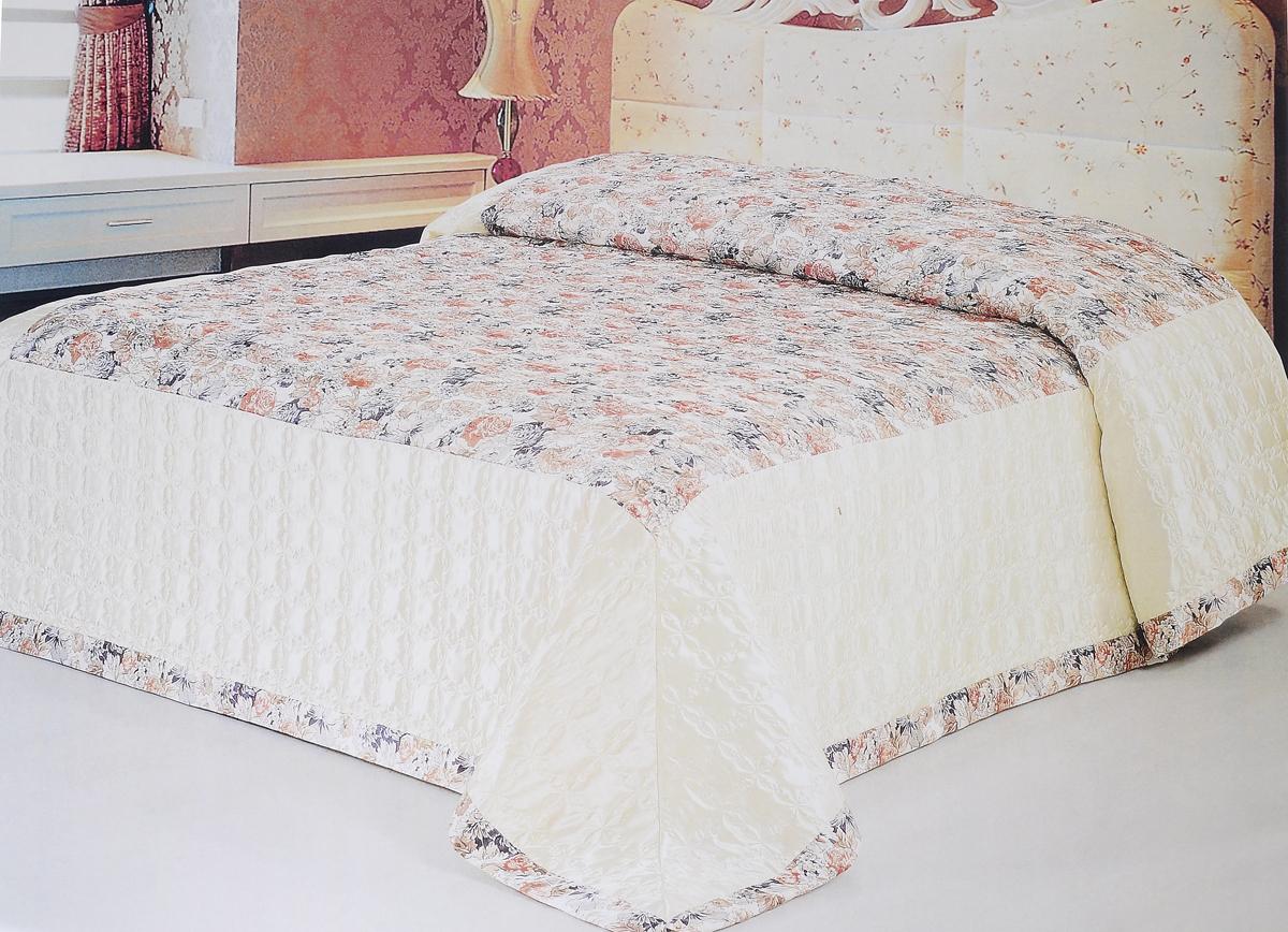 Покрывало стеганое Soft Line, 240 х 260 см. 09388SVC-300Стеганое покрывало Soft Line выполнено из атласа (100% полиэстер). Такой материал очень прочен и долговечен, он практически не мнется и обладает элегантным блеском с яркими насыщенными цветами. Покрывало является неотъемлемым атрибутом дома, где царит уют и тепло. Яркое покрывало Soft Line с цветочным дизайном гармонично впишется в интерьер вашего дома и создаст атмосферу уюта и комфорта. Стеганое покрывало Soft Line - это такой подарок, который будет всегда актуален, особенно для ваших родных и близких, ведь вы дарите им частичку своего тепла.Изделие упаковано в подарочную коробку.Размер покрывала: 240 х 260 см.