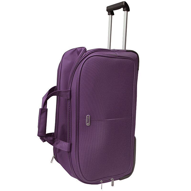 Сумка дорожная на колесах Edmins, цвет: фиолетовый, 65х38х34смГризлиСумка дорожная на колесах с выдвижной ручкой. Максимальная нагрузка 17 кг.