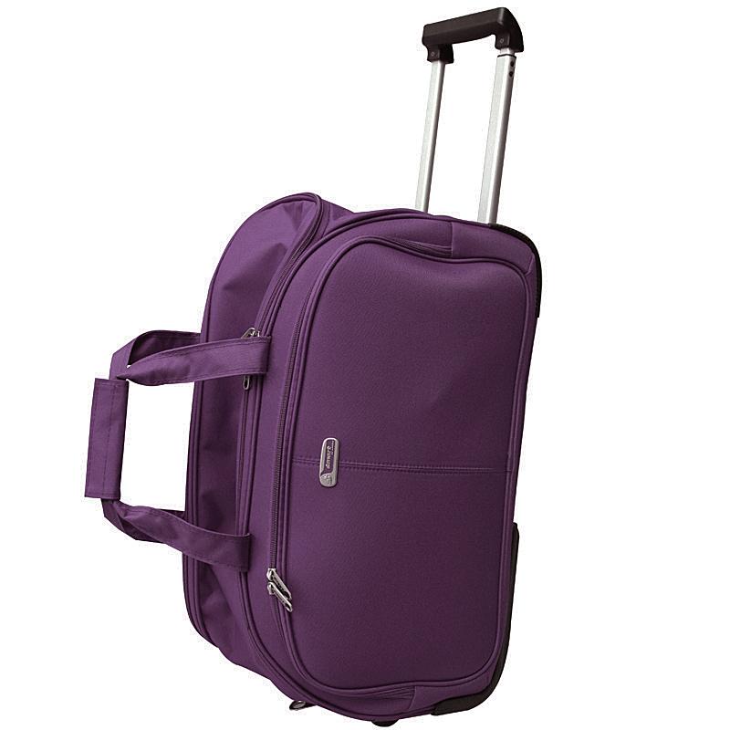 Сумка дорожная на колесах Edmins, цвет: фиолетовый, 55х35х30см213 НТВ 220*2Сумка дорожная на колесах с выдвижной ручкой. Максимальная нагрузка 10 кг.