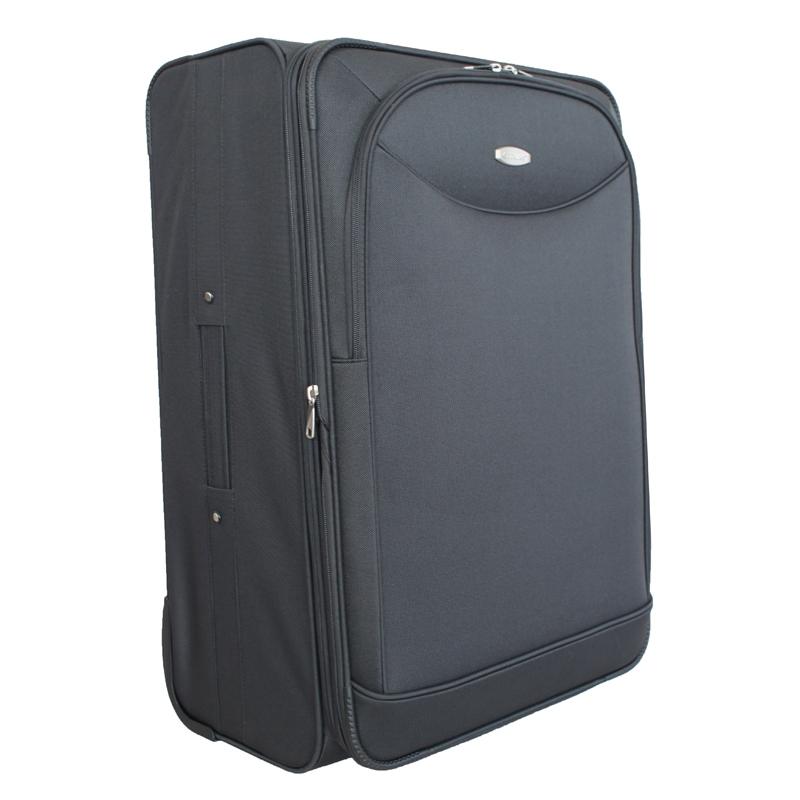 Чемодан-тележка Edmins, цвет: темно-серый, 70х45х32смГризлиМаксимальная нагрузка 30 кг.