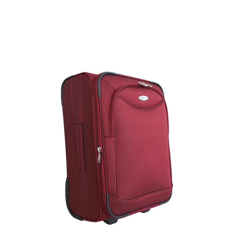 Чемодан-тележка Edmins, цвет: бордовый, 50х35х20смГризлиМаксимальная нагрузка 10 кг.
