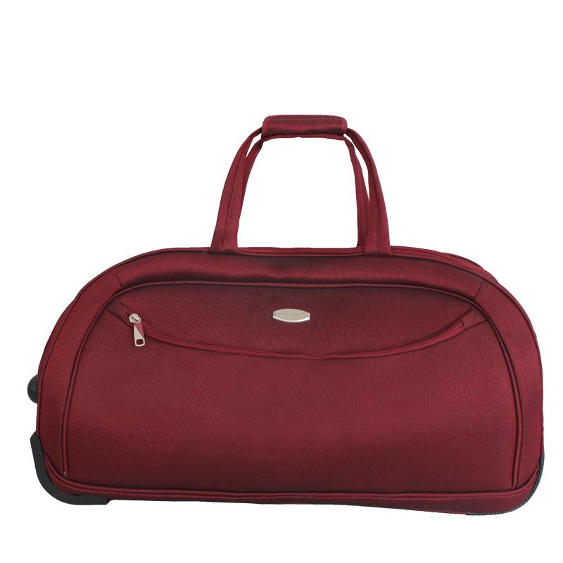 Сумка дорожная на колесах Edmins, цвет: бордовый, 65х38х34смMABLSEH10001Максимальная нагрузка 17 кг.
