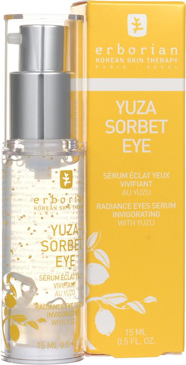 Erborian Сорбет сыворотка для кожи вокруг глаз YUZA SORBET FAMILY 15 млFS-00897Юзу сорбет сыворотка для глаз помогает разбудить глаза после сна, увлажняя чувствительную кожу зоны вокруг глаз. Сыворотка содержит витамин Е, известный своими антиоксидантными свойствами. Она мгновенно впитывается, защищая от внешних воздействий и сухости кожу глаз. В результате глаза выглядят отдохнувшими, кожа становится мягкая и гладкая.