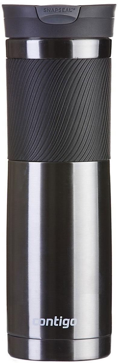 Термокружка Contigo Byron, цвет: серый, 720 мл термокружка contigo contigo0502
