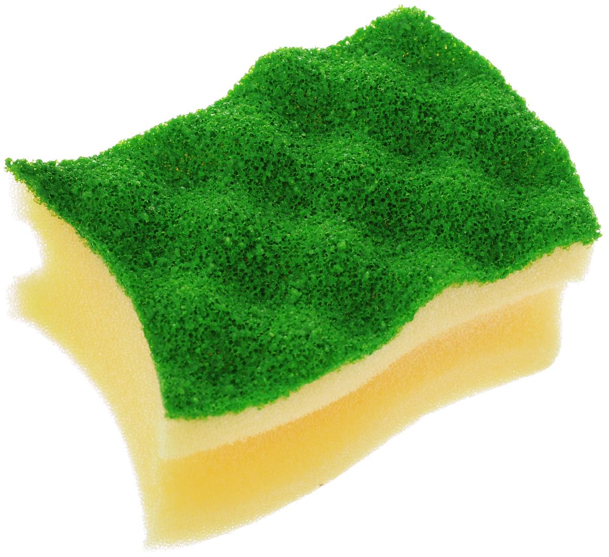 Губка для мытья посуды Vileda Pure Colors, цвет: желтый, зеленый, 9,5 х 6,2 х 4,7 см790009Губка для мытья посуды Vileda Pure Colors предназначена для очистки деликатных поверхностей. Удаляет даже трудные загрязнения, не царапая поверхность. Удобна в использовании за счет специальных пазов для пальцев. Губка с ярким дизайном станет украшением любой кухни и порадует хозяйку.Размер губки: 9,5 х 6,2 х 4,7 см.