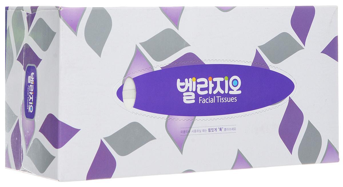 Monalisa Салфетки для лица Bellagio 180шт, цвет: фиолетовый, серый летуаль салфетки матирующие салфетки для лица