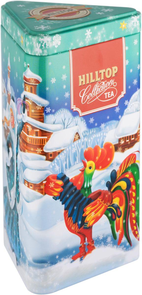 Hilltop Веселые гуляния Королевское золото черный листовой чай, 80 г101246Hilltop Королевское золото – крупнолистовой терпкий чёрный чай стандарта Супер Пеко с лучших плантаций острова Цейлон. Поставляется в красочной подарочной упаковке. Отлично подойдет в качестве подарка на новогодние праздники.