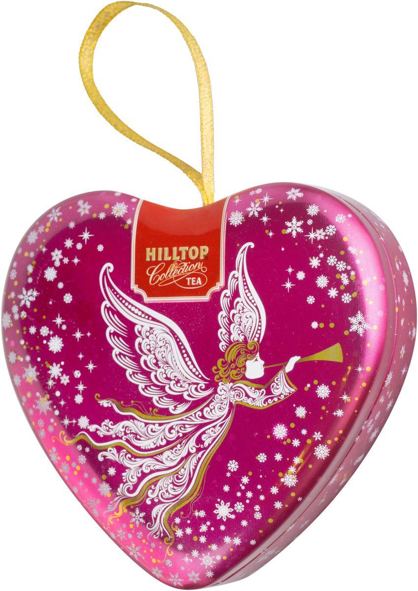 Hilltop Сердечко Светлый ангел Зимняя клюква ароматизированный листовой чай, 50 г101246Hilltop Зимняя клюква - черный крупнолистовой чай с добавлением кусочков ягод клюквы. Поставляется в подарочной металлической упаковкев форме сердечка. Отлично подойдет в качестве подарка на новогодние праздники.