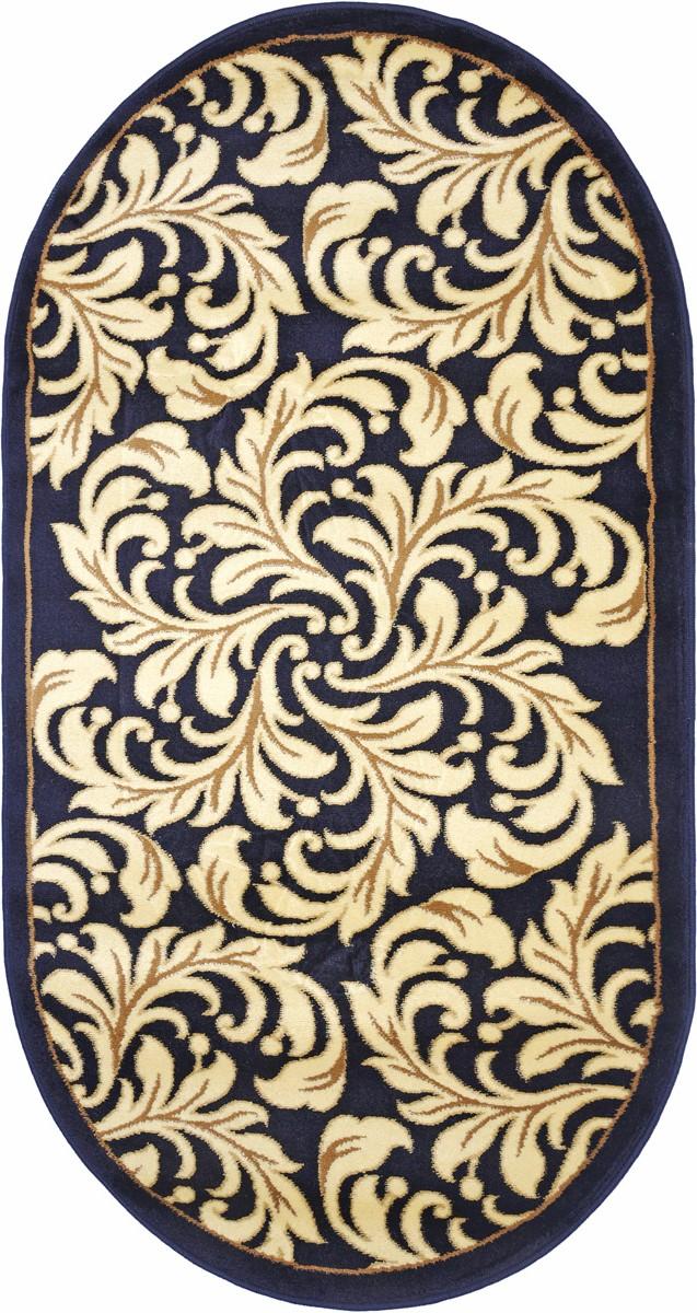 Ковер Kamalak Tekstil, овальный, 80 x 150 см. УК-0305ES-412Ковер Kamalak Tekstil изготовлен из прочного синтетического материала heat-set, улучшенного варианта полипропилена (эта нить получается в результате его дополнительной обработки). Полипропилен износостоек, нетоксичен, не впитывает влагу, не провоцирует аллергию. Структура волокна в полипропиленовых коврах гладкая, поэтому грязь не будет въедаться и скапливаться на ворсе. Практичный и износоустойчивый ворс не истирается и не накапливает статическое электричество. Ковер обладает хорошими показателями теплостойкости и шумоизоляции. Оригинальный рисунок позволит гармонично оформить интерьер комнаты, гостиной или прихожей. За счет невысокого ворса ковер легко чистить. При надлежащем уходе синтетический ковер прослужит долго, не утратив ни яркости узора, ни блеска ворса, ни упругости. Самый простой способ избавить изделие от грязи - пропылесосить его с обеих сторон (лицевой и изнаночной). Влажная уборка с применением шампуней и моющих средств не противопоказана. Хранить рекомендуется в свернутом рулоном виде.