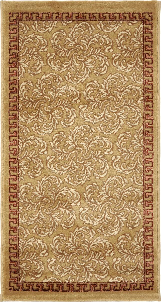 Ковер Kamalak Tekstil, прямоугольный, 60 x 110 см. УК-0282THN132NКовер Kamalak Tekstil изготовлен из прочного синтетического материала heat-set, улучшенного варианта полипропилена (эта нить получается в результате его дополнительной обработки). Полипропилен износостоек, нетоксичен, не впитывает влагу, не провоцирует аллергию. Структура волокна в полипропиленовых коврах гладкая, поэтому грязь не будет въедаться и скапливаться на ворсе. Практичный и износоустойчивый ворс не истирается и не накапливает статическое электричество. Ковер обладает хорошими показателями теплостойкости и шумоизоляции. Оригинальный рисунок позволит гармонично оформить интерьер комнаты, гостиной или прихожей. За счет невысокого ворса ковер легко чистить. При надлежащем уходе синтетический ковер прослужит долго, не утратив ни яркости узора, ни блеска ворса, ни упругости. Самый простой способ избавить изделие от грязи - пропылесосить его с обеих сторон (лицевой и изнаночной). Влажная уборка с применением шампуней и моющих средств не противопоказана. Хранить рекомендуется в свернутом рулоном виде.