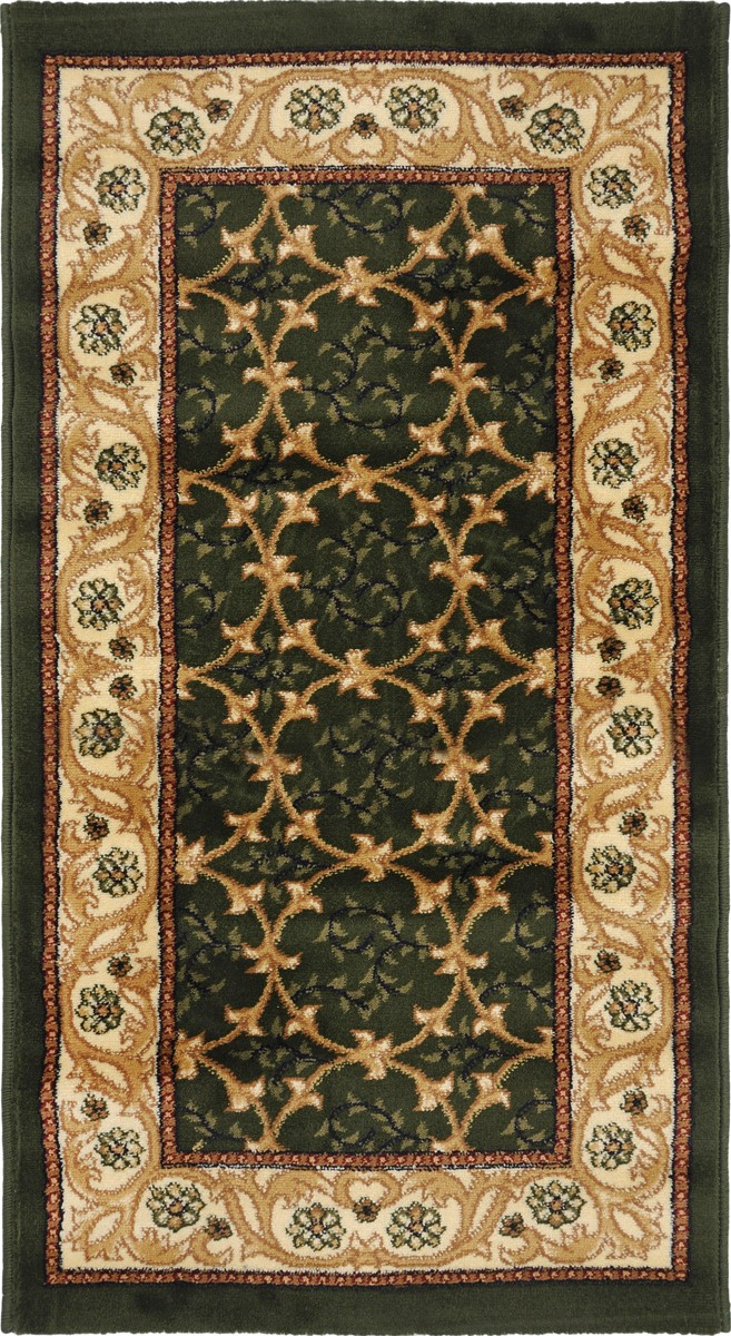 Ковер Kamalak Tekstil, прямоугольный, 60 x 110 см. УК-0220V4140/1SКовер Kamalak Tekstil изготовлен из прочного синтетического материала heat-set, улучшенного варианта полипропилена (эта нить получается в результате его дополнительной обработки). Полипропилен износостоек, нетоксичен, не впитывает влагу, не провоцирует аллергию. Структура волокна в полипропиленовых коврах гладкая, поэтому грязь не будет въедаться и скапливаться на ворсе. Практичный и износоустойчивый ворс не истирается и не накапливает статическое электричество. Ковер обладает хорошими показателями теплостойкости и шумоизоляции. Оригинальный рисунок позволит гармонично оформить интерьер комнаты, гостиной или прихожей. За счет невысокого ворса ковер легко чистить. При надлежащем уходе синтетический ковер прослужит долго, не утратив ни яркости узора, ни блеска ворса, ни упругости. Самый простой способ избавить изделие от грязи - пропылесосить его с обеих сторон (лицевой и изнаночной). Влажная уборка с применением шампуней и моющих средств не противопоказана. Хранить рекомендуется в свернутом рулоном виде.