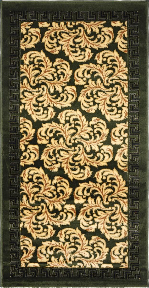 Ковер Kamalak Tekstil, прямоугольный, 80 x 150 см. УК-0292THN132NКовер Kamalak Tekstil изготовлен из прочного синтетического материала heat-set, улучшенного варианта полипропилена (эта нить получается в результате его дополнительной обработки). Полипропилен износостоек, нетоксичен, не впитывает влагу, не провоцирует аллергию. Структура волокна в полипропиленовых коврах гладкая, поэтому грязь не будет въедаться и скапливаться на ворсе. Практичный и износоустойчивый ворс не истирается и не накапливает статическое электричество. Ковер обладает хорошими показателями теплостойкости и шумоизоляции. Оригинальный рисунок позволит гармонично оформить интерьер комнаты, гостиной или прихожей. За счет невысокого ворса ковер легко чистить. При надлежащем уходе синтетический ковер прослужит долго, не утратив ни яркости узора, ни блеска ворса, ни упругости. Самый простой способ избавить изделие от грязи - пропылесосить его с обеих сторон (лицевой и изнаночной). Влажная уборка с применением шампуней и моющих средств не противопоказана. Хранить рекомендуется в свернутом рулоном виде.