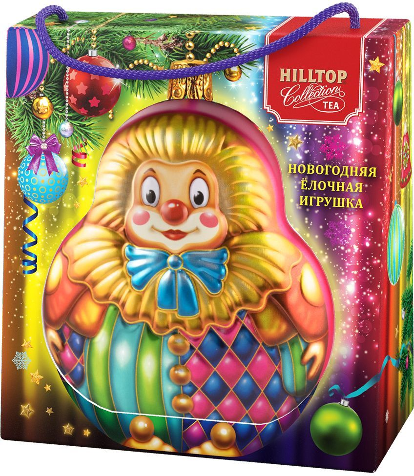 Hilltop Елочная игрушка Клоун Подарок Цейлона черный листовой чай, 50 г (в футляре)13090Hilltop Подарок Цейлона - крупнолистовой цейлонский черный чай с глубоким, насыщенным вкусом и изумительным ароматом. Поставляется в подарочной упаковкев форме елочной игрушки. Отлично подойдет в качестве подарка на новогодние праздники.