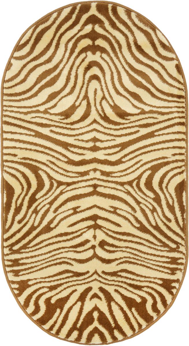 Ковер Kamalak Tekstil, овальный, 60 x 110 см. УК-0042ES-412Ковер Kamalak Tekstil изготовлен из прочного синтетического материала heat-set, улучшенного варианта полипропилена (эта нить получается в результате его дополнительной обработки). Полипропилен износостоек, нетоксичен, не впитывает влагу, не провоцирует аллергию. Структура волокна в полипропиленовых коврах гладкая, поэтому грязь не будет въедаться и скапливаться на ворсе. Практичный и износоустойчивый ворс не истирается и не накапливает статическое электричество. Ковер обладает хорошими показателями теплостойкости и шумоизоляции. Оригинальный рисунок позволит гармонично оформить интерьер комнаты, гостиной или прихожей. За счет невысокого ворса ковер легко чистить. При надлежащем уходе синтетический ковер прослужит долго, не утратив ни яркости узора, ни блеска ворса, ни упругости. Самый простой способ избавить изделие от грязи - пропылесосить его с обеих сторон (лицевой и изнаночной). Влажная уборка с применением шампуней и моющих средств не противопоказана. Хранить рекомендуется в свернутом рулоном виде.