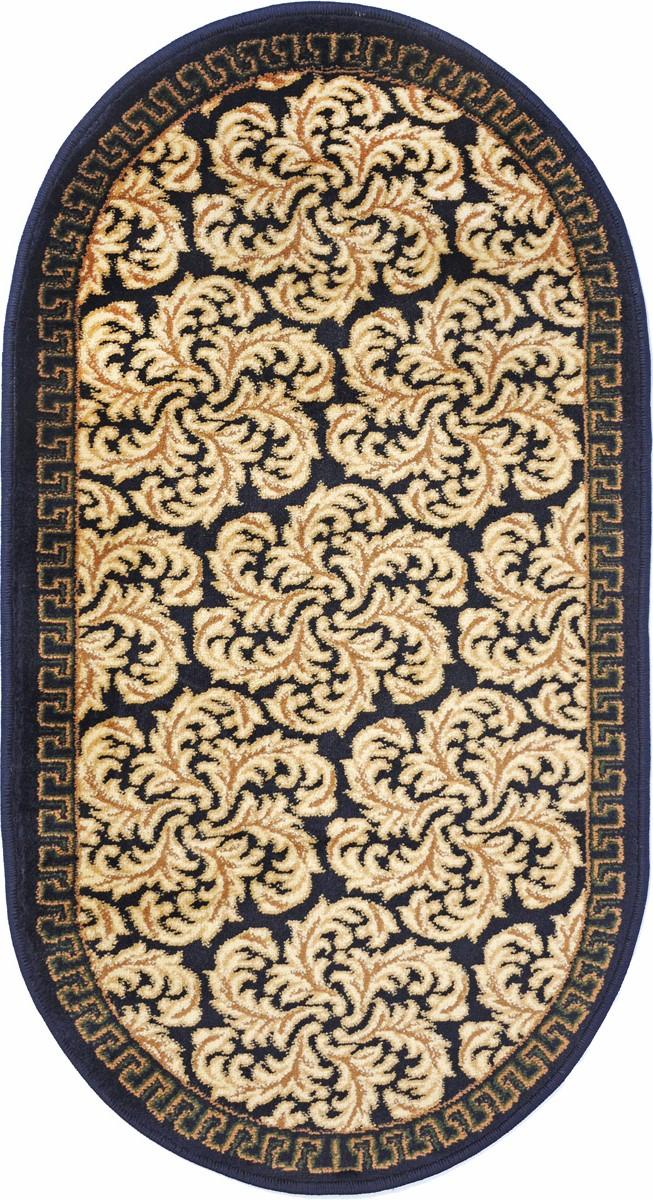 Ковер Kamalak Tekstil, овальный, 60 x 110 см. УК-027720706Ковер Kamalak Tekstil изготовлен из прочного синтетического материала heat-set, улучшенного варианта полипропилена (эта нить получается в результате его дополнительной обработки). Полипропилен износостоек, нетоксичен, не впитывает влагу, не провоцирует аллергию. Структура волокна в полипропиленовых коврах гладкая, поэтому грязь не будет въедаться и скапливаться на ворсе. Практичный и износоустойчивый ворс не истирается и не накапливает статическое электричество. Ковер обладает хорошими показателями теплостойкости и шумоизоляции. Оригинальный рисунок позволит гармонично оформить интерьер комнаты, гостиной или прихожей. За счет невысокого ворса ковер легко чистить. При надлежащем уходе синтетический ковер прослужит долго, не утратив ни яркости узора, ни блеска ворса, ни упругости. Самый простой способ избавить изделие от грязи - пропылесосить его с обеих сторон (лицевой и изнаночной). Влажная уборка с применением шампуней и моющих средств не противопоказана. Хранить рекомендуется в свернутом рулоном виде.