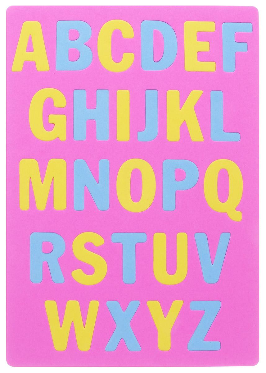 Апплика Мозаика Мягкий английский алфавит цвет основы розовый бомик мозаика алфавит английский
