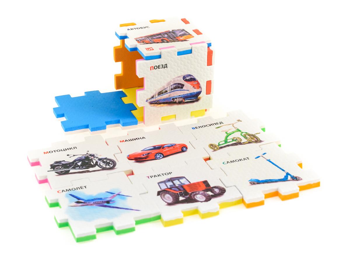 Нескучный кубик Пазл для малышей Транспорт нескучный кубик пазл для малышей фрукты