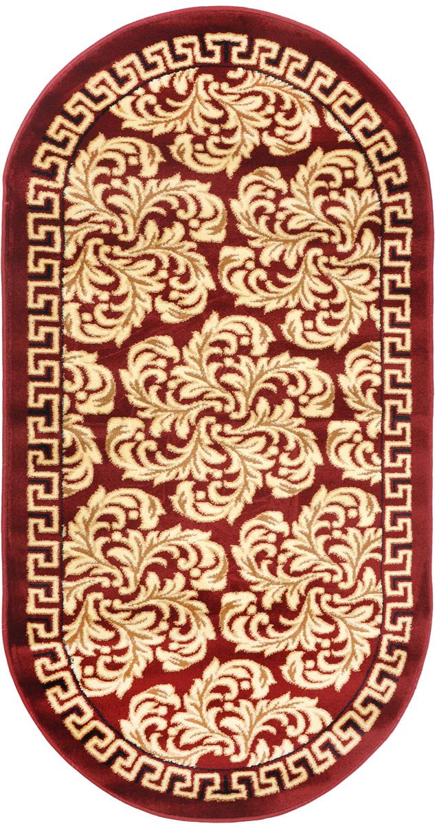 Ковер Kamalak Tekstil, овальный, 80 x 150 см. УК-0299a030041Ковер Kamalak Tekstil изготовлен из прочного синтетического материала heat-set, улучшенного варианта полипропилена (эта нить получается в результате его дополнительной обработки). Полипропилен износостоек, нетоксичен, не впитывает влагу, не провоцирует аллергию. Структура волокна в полипропиленовых коврах гладкая, поэтому грязь не будет въедаться и скапливаться на ворсе. Практичный и износоустойчивый ворс не истирается и не накапливает статическое электричество. Ковер обладает хорошими показателями теплостойкости и шумоизоляции. Оригинальный рисунок позволит гармонично оформить интерьер комнаты, гостиной или прихожей. За счет невысокого ворса ковер легко чистить. При надлежащем уходе синтетический ковер прослужит долго, не утратив ни яркости узора, ни блеска ворса, ни упругости. Самый простой способ избавить изделие от грязи - пропылесосить его с обеих сторон (лицевой и изнаночной). Влажная уборка с применением шампуней и моющих средств не противопоказана. Хранить рекомендуется в свернутом рулоном виде.