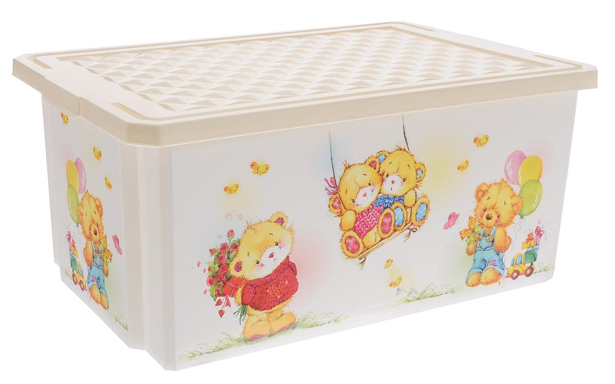 Little Angel Детский ящик для хранения игрушек X-BOX Bears 12 л цвет слоновая кость67371Детский ящик с крышкой для хранения игрушек Little Angel X-BOX Bears декорирован с помощью технологии IML, которая придает ему не только привлекательный дизайн, но и дополнительную прочность и износоустойчивость. Ящик можно мыть без опасения испортить рисунок. Прочный каркас ящика позволяет хранить как легкие вещи, так и более тяжелый груз.