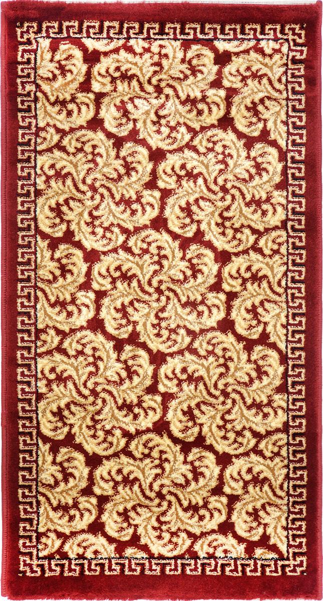 Ковер Kamalak Tekstil, прямоугольный, 60 x 110 см. УК-0300ES-412Ковер Kamalak Tekstil изготовлен из прочного синтетического материала heat-set, улучшенного варианта полипропилена (эта нить получается в результате его дополнительной обработки). Полипропилен износостоек, нетоксичен, не впитывает влагу, не провоцирует аллергию. Структура волокна в полипропиленовых коврах гладкая, поэтому грязь не будет въедаться и скапливаться на ворсе. Практичный и износоустойчивый ворс не истирается и не накапливает статическое электричество. Ковер обладает хорошими показателями теплостойкости и шумоизоляции. Оригинальный рисунок позволит гармонично оформить интерьер комнаты, гостиной или прихожей. За счет невысокого ворса ковер легко чистить. При надлежащем уходе синтетический ковер прослужит долго, не утратив ни яркости узора, ни блеска ворса, ни упругости. Самый простой способ избавить изделие от грязи - пропылесосить его с обеих сторон (лицевой и изнаночной). Влажная уборка с применением шампуней и моющих средств не противопоказана. Хранить рекомендуется в свернутом рулоном виде.
