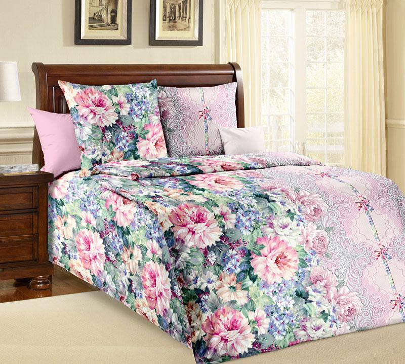 Комплект белья Текс-Дизайн Влюбленность, 1,5 спальный, наволочки 70x70CLP446Великолепное постельное белье Текс-Дизайн Влюбленность 1 выполнено из высококачественной бязи и украшено изящным цветочным рисунком. Комплект состоит из пододеяльника, простыни и двух наволочек. Бязь - хлопчатобумажная плотная ткань полотняного переплетения. Отличается прочностью и стойкостью к многочисленным стиркам. Бязь считается одной из наиболее подходящих тканей, для производства постельного белья и пользуется в России большим спросом.