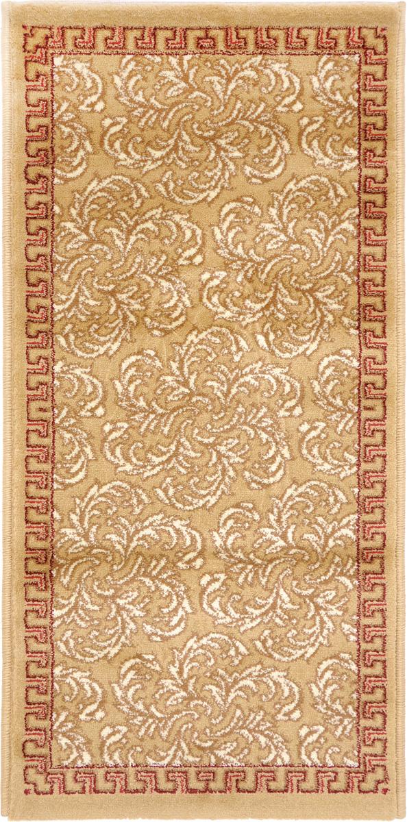 Ковер Kamalak Tekstil, прямоугольный, 50 x 100 см. УК-049374-0120Ковер Kamalak Tekstil изготовлен из прочного синтетического материала heat-set, улучшенного варианта полипропилена (эта нить получается в результате его дополнительной обработки). Полипропилен износостоек, нетоксичен, не впитывает влагу, не провоцирует аллергию. Структура волокна в полипропиленовых коврах гладкая, поэтому грязь не будет въедаться и скапливаться на ворсе. Практичный и износоустойчивый ворс не истирается и не накапливает статическое электричество. Ковер обладает хорошими показателями теплостойкости и шумоизоляции. Оригинальный рисунок позволит гармонично оформить интерьер комнаты, гостиной или прихожей. За счет невысокого ворса ковер легко чистить. При надлежащем уходе синтетический ковер прослужит долго, не утратив ни яркости узора, ни блеска ворса, ни упругости. Самый простой способ избавить изделие от грязи - пропылесосить его с обеих сторон (лицевой и изнаночной). Влажная уборка с применением шампуней и моющих средств не противопоказана. Хранить рекомендуется в свернутом рулоном виде.