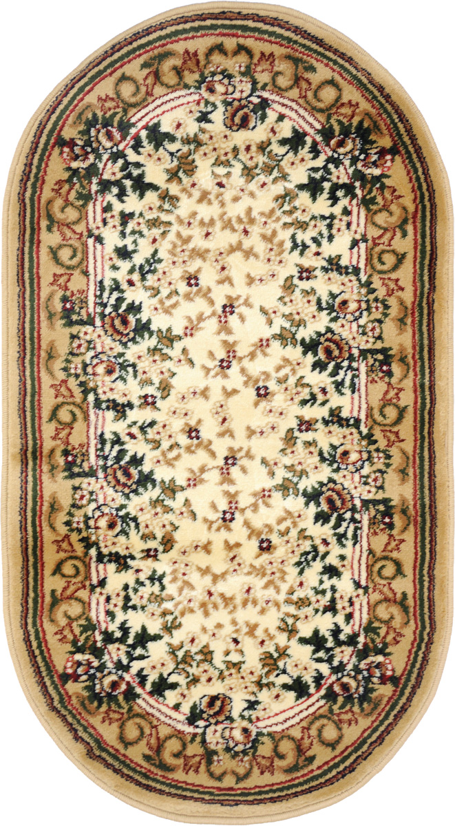 Ковер Kamalak Tekstil, овальный, 60 x 110 см. УК-0124 ковер kamalak tekstil овальный 60 x 110 см ук 0247