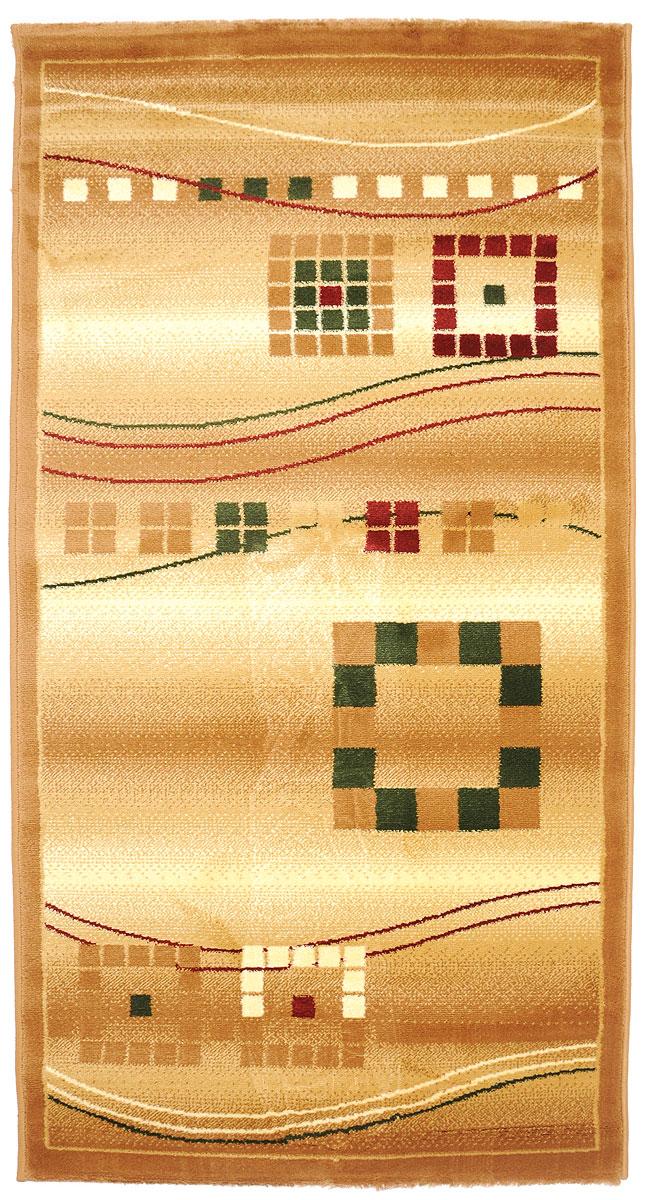 Ковер Kamalak Tekstil, прямоугольный, 80 x 150 см. УК-0081PR-2WКовер Kamalak Tekstil изготовлен из прочного синтетического материала heat-set, улучшенного варианта полипропилена (эта нить получается в результате его дополнительной обработки). Полипропилен износостоек, нетоксичен, не впитывает влагу, не провоцирует аллергию. Структура волокна в полипропиленовых коврах гладкая, поэтому грязь не будет въедаться и скапливаться на ворсе. Практичный и износоустойчивый ворс не истирается и не накапливает статическое электричество. Ковер обладает хорошими показателями теплостойкости и шумоизоляции. Оригинальный рисунок позволит гармонично оформить интерьер комнаты, гостиной или прихожей. За счет невысокого ворса ковер легко чистить. При надлежащем уходе синтетический ковер прослужит долго, не утратив ни яркости узора, ни блеска ворса, ни упругости. Самый простой способ избавить изделие от грязи - пропылесосить его с обеих сторон (лицевой и изнаночной). Влажная уборка с применением шампуней и моющих средств не противопоказана. Хранить рекомендуется в свернутом рулоном виде.