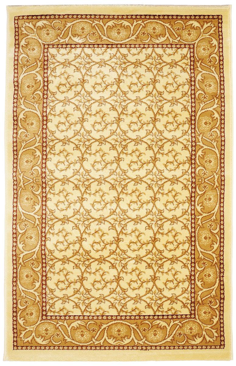 Ковер Kamalak Tekstil, прямоугольный, 100 x 150 см. УК-0215U210DFКовер Kamalak Tekstil изготовлен из прочного синтетического материала heat-set, улучшенного варианта полипропилена (эта нить получается в результате его дополнительной обработки). Полипропилен износостоек, нетоксичен, не впитывает влагу, не провоцирует аллергию. Структура волокна в полипропиленовых коврах гладкая, поэтому грязь не будет въедаться и скапливаться на ворсе. Практичный и износоустойчивый ворс не истирается и не накапливает статическое электричество. Ковер обладает хорошими показателями теплостойкости и шумоизоляции. Оригинальный рисунок позволит гармонично оформить интерьер комнаты, гостиной или прихожей. За счет невысокого ворса ковер легко чистить. При надлежащем уходе синтетический ковер прослужит долго, не утратив ни яркости узора, ни блеска ворса, ни упругости. Самый простой способ избавить изделие от грязи - пропылесосить его с обеих сторон (лицевой и изнаночной). Влажная уборка с применением шампуней и моющих средств не противопоказана. Хранить рекомендуется в свернутом рулоном виде.