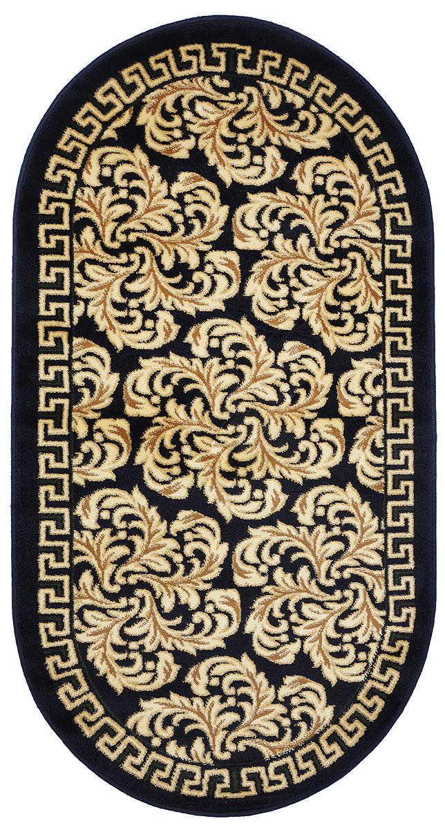 Ковер Kamalak Tekstil, овальный, 80 x 150 см. УК-027515038Ковер Kamalak Tekstil изготовлен из прочного синтетического материала heat-set, улучшенного варианта полипропилена (эта нить получается в результате его дополнительной обработки). Полипропилен износостоек, нетоксичен, не впитывает влагу, не провоцирует аллергию. Структура волокна в полипропиленовых коврах гладкая, поэтому грязь не будет въедаться и скапливаться на ворсе. Практичный и износоустойчивый ворс не истирается и не накапливает статическое электричество. Ковер обладает хорошими показателями теплостойкости и шумоизоляции. Оригинальный рисунок позволит гармонично оформить интерьер комнаты, гостиной или прихожей. За счет невысокого ворса ковер легко чистить. При надлежащем уходе синтетический ковер прослужит долго, не утратив ни яркости узора, ни блеска ворса, ни упругости. Самый простой способ избавить изделие от грязи - пропылесосить его с обеих сторон (лицевой и изнаночной). Влажная уборка с применением шампуней и моющих средств не противопоказана. Хранить рекомендуется в свернутом рулоном виде.
