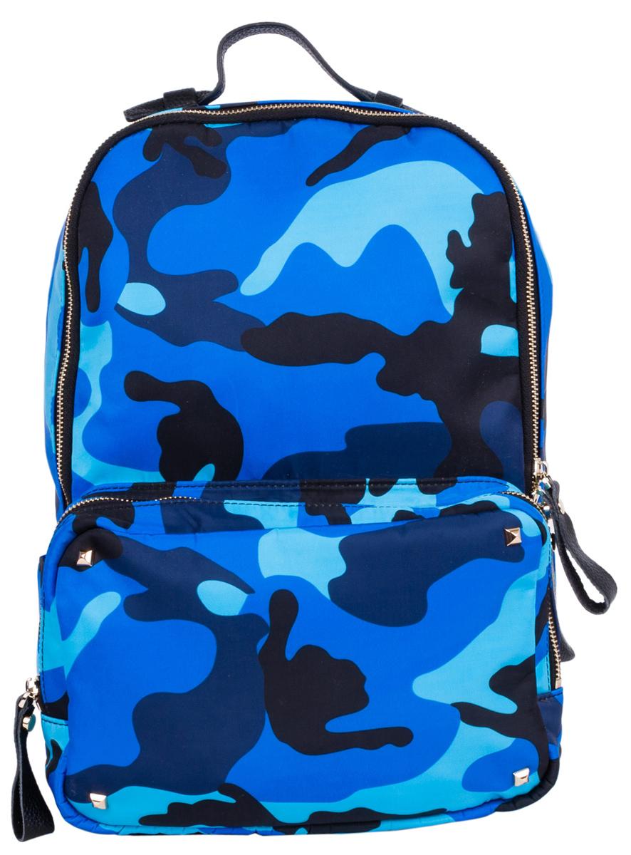 Рюкзак городской Pola, цвет: синий, голубой, 16 л. 90409040Стильный женский рюкзак этого сезона - идеальное решение для города и путешествий. Центральный отсек предназначен для персональных вещей. Внутри - карман на молнии и два открытых кармашка. Снаружи - накладной карман на молнии спереди рюкзака. Мягкие кожаные лямки с регулируемой длиной.