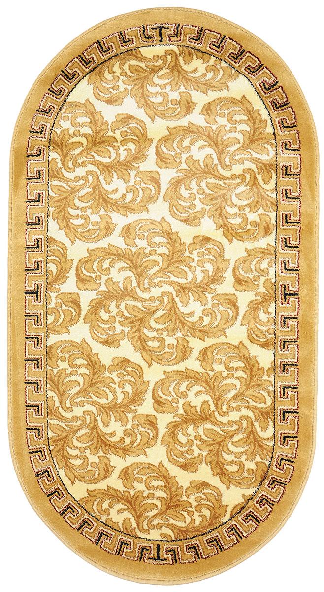 Ковер Kamalak Tekstil, овальный, 80 x 150 см. УК-0287U210DFКовер Kamalak Tekstil изготовлен из прочного синтетического материала heat-set, улучшенного варианта полипропилена (эта нить получается в результате его дополнительной обработки). Полипропилен износостоек, нетоксичен, не впитывает влагу, не провоцирует аллергию. Структура волокна в полипропиленовых коврах гладкая, поэтому грязь не будет въедаться и скапливаться на ворсе. Практичный и износоустойчивый ворс не истирается и не накапливает статическое электричество. Ковер обладает хорошими показателями теплостойкости и шумоизоляции. Оригинальный рисунок позволит гармонично оформить интерьер комнаты, гостиной или прихожей. За счет невысокого ворса ковер легко чистить. При надлежащем уходе синтетический ковер прослужит долго, не утратив ни яркости узора, ни блеска ворса, ни упругости. Самый простой способ избавить изделие от грязи - пропылесосить его с обеих сторон (лицевой и изнаночной). Влажная уборка с применением шампуней и моющих средств не противопоказана. Хранить рекомендуется в свернутом рулоном виде.