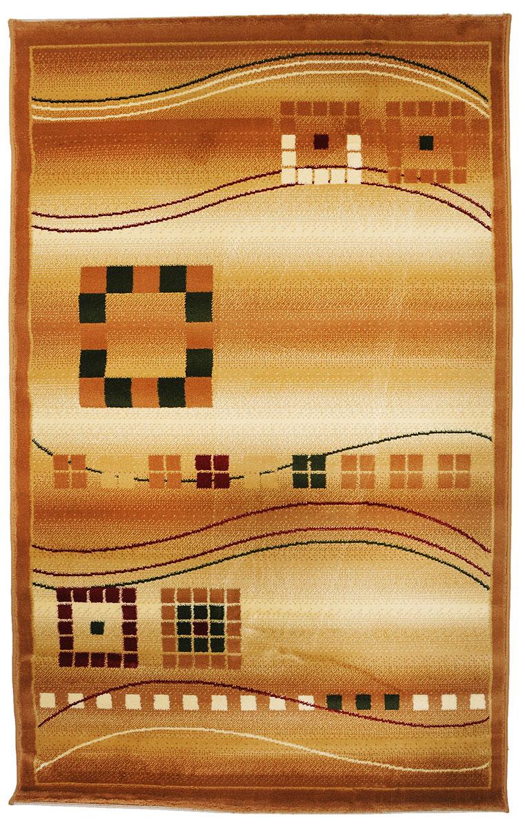 Ковер Kamalak Tekstil, прямоугольный, 100 x 150 см. УК-0080U210DFКовер Kamalak Tekstil изготовлен из прочного синтетического материала heat-set, улучшенного варианта полипропилена (эта нить получается в результате его дополнительной обработки). Полипропилен износостоек, нетоксичен, не впитывает влагу, не провоцирует аллергию. Структура волокна в полипропиленовых коврах гладкая, поэтому грязь не будет въедаться и скапливаться на ворсе. Практичный и износоустойчивый ворс не истирается и не накапливает статическое электричество. Ковер обладает хорошими показателями теплостойкости и шумоизоляции. Оригинальный рисунок позволит гармонично оформить интерьер комнаты, гостиной или прихожей. За счет невысокого ворса ковер легко чистить. При надлежащем уходе синтетический ковер прослужит долго, не утратив ни яркости узора, ни блеска ворса, ни упругости. Самый простой способ избавить изделие от грязи - пропылесосить его с обеих сторон (лицевой и изнаночной). Влажная уборка с применением шампуней и моющих средств не противопоказана. Хранить рекомендуется в свернутом рулоном виде.