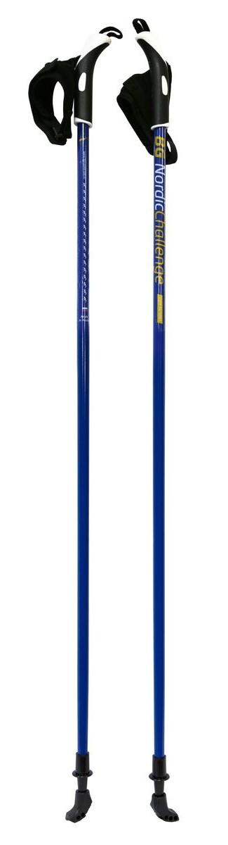 Палки для скандинавской ходьбы BG Nordic Challenge, цвет: синий, длина 115 см82850Надёжные и удобные палки для скандинавской ходьбы BG Nordic Challenge, фиксированной длины, выполненные из облегчённого алюминиевого сплава Light Alu 6061. Окрашенный стержень. Двухкомпонентная пластиковая ручка.Темляк-капкан. Стальной наконечник.Резиновые наконечники (башмачки).Длина: 115 см.
