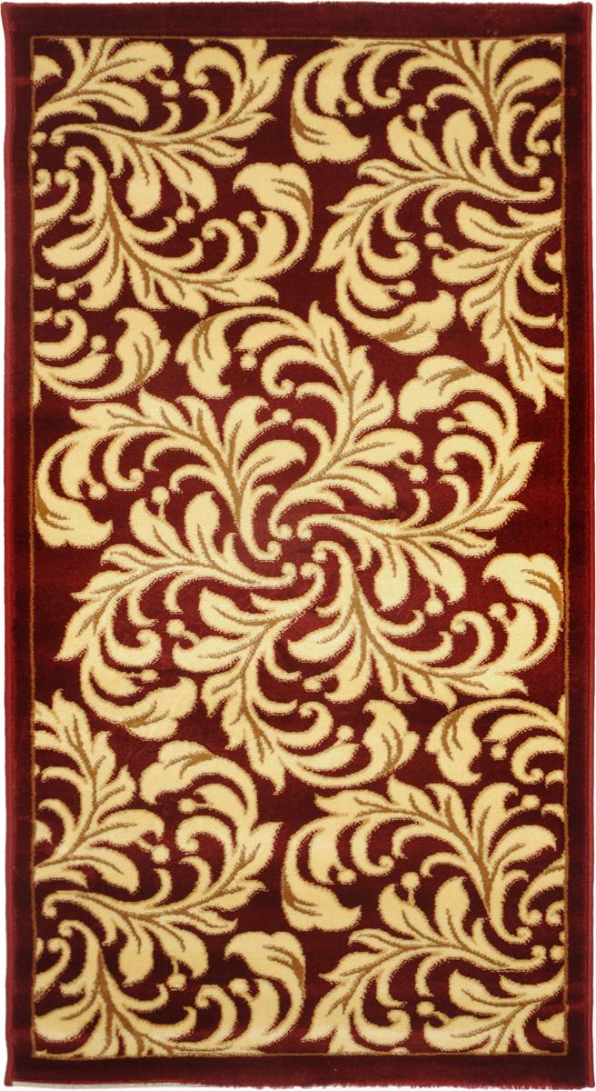 Ковер Kamalak Tekstil, прямоугольный, 80 x 150 см. УК-0328THN132NКовер Kamalak Tekstil изготовлен из прочного синтетического материала heat-set, улучшенного варианта полипропилена (эта нить получается в результате его дополнительной обработки). Полипропилен износостоек, нетоксичен, не впитывает влагу, не провоцирует аллергию. Структура волокна в полипропиленовых коврах гладкая, поэтому грязь не будет въедаться и скапливаться на ворсе. Практичный и износоустойчивый ворс не истирается и не накапливает статическое электричество. Ковер обладает хорошими показателями теплостойкости и шумоизоляции. Оригинальный рисунок позволит гармонично оформить интерьер комнаты, гостиной или прихожей. За счет невысокого ворса ковер легко чистить. При надлежащем уходе синтетический ковер прослужит долго, не утратив ни яркости узора, ни блеска ворса, ни упругости. Самый простой способ избавить изделие от грязи - пропылесосить его с обеих сторон (лицевой и изнаночной). Влажная уборка с применением шампуней и моющих средств не противопоказана. Хранить рекомендуется в свернутом рулоном виде.
