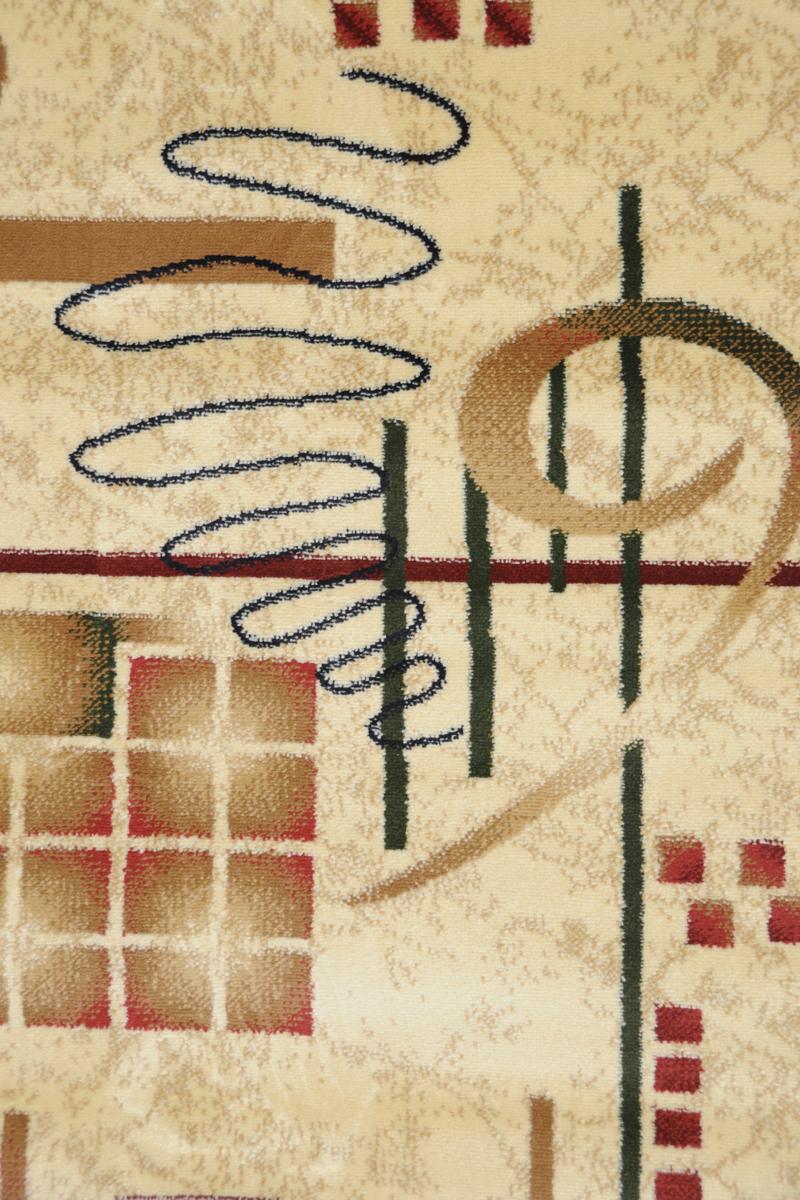 Ковер Kamalak Tekstil, прямоугольный, 80 x 150 см. УК-0054U210DFКовер Kamalak Tekstil изготовлен из прочного синтетического материала heat-set, улучшенного варианта полипропилена (эта нить получается в результате его дополнительной обработки). Полипропилен износостоек, нетоксичен, не впитывает влагу, не провоцирует аллергию. Структура волокна в полипропиленовых коврах гладкая, поэтому грязь не будет въедаться и скапливаться на ворсе. Практичный и износоустойчивый ворс не истирается и не накапливает статическое электричество. Ковер обладает хорошими показателями теплостойкости и шумоизоляции. Оригинальный рисунок позволит гармонично оформить интерьер комнаты, гостиной или прихожей. За счет невысокого ворса ковер легко чистить. При надлежащем уходе синтетический ковер прослужит долго, не утратив ни яркости узора, ни блеска ворса, ни упругости. Самый простой способ избавить изделие от грязи - пропылесосить его с обеих сторон (лицевой и изнаночной). Влажная уборка с применением шампуней и моющих средств не противопоказана. Хранить рекомендуется в свернутом рулоном виде.