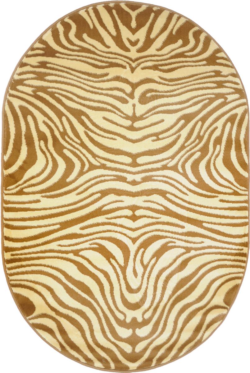 Ковер Kamalak Tekstil, овальный, 100 x 150 см. УК-0039PR-2WКовер Kamalak Tekstil изготовлен из прочного синтетического материала heat-set, улучшенного варианта полипропилена (эта нить получается в результате его дополнительной обработки). Полипропилен износостоек, нетоксичен, не впитывает влагу, не провоцирует аллергию. Структура волокна в полипропиленовых коврах гладкая, поэтому грязь не будет въедаться и скапливаться на ворсе. Практичный и износоустойчивый ворс не истирается и не накапливает статическое электричество. Ковер обладает хорошими показателями теплостойкости и шумоизоляции. Оригинальный рисунок позволит гармонично оформить интерьер комнаты, гостиной или прихожей. За счет невысокого ворса ковер легко чистить. При надлежащем уходе синтетический ковер прослужит долго, не утратив ни яркости узора, ни блеска ворса, ни упругости. Самый простой способ избавить изделие от грязи - пропылесосить его с обеих сторон (лицевой и изнаночной). Влажная уборка с применением шампуней и моющих средств не противопоказана. Хранить рекомендуется в свернутом рулоном виде.