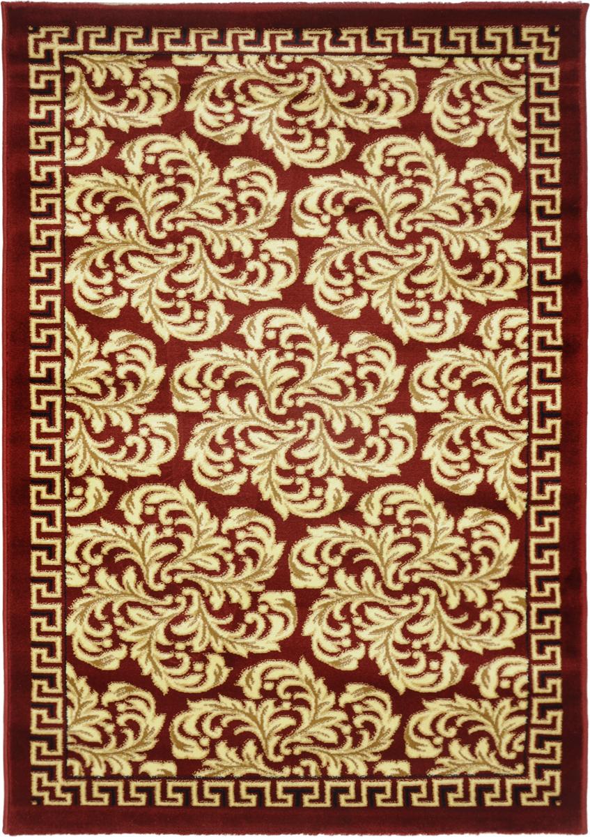 Ковер Kamalak Tekstil, прямоугольный, 100 x 150 см. УК-02966113MКовер Kamalak Tekstil изготовлен из прочного синтетического материала heat-set, улучшенного варианта полипропилена (эта нить получается в результате его дополнительной обработки). Полипропилен износостоек, нетоксичен, не впитывает влагу, не провоцирует аллергию. Структура волокна в полипропиленовых коврах гладкая, поэтому грязь не будет въедаться и скапливаться на ворсе. Практичный и износоустойчивый ворс не истирается и не накапливает статическое электричество. Ковер обладает хорошими показателями теплостойкости и шумоизоляции. Оригинальный рисунок позволит гармонично оформить интерьер комнаты, гостиной или прихожей. За счет невысокого ворса ковер легко чистить. При надлежащем уходе синтетический ковер прослужит долго, не утратив ни яркости узора, ни блеска ворса, ни упругости. Самый простой способ избавить изделие от грязи - пропылесосить его с обеих сторон (лицевой и изнаночной). Влажная уборка с применением шампуней и моющих средств не противопоказана. Хранить рекомендуется в свернутом рулоном виде.